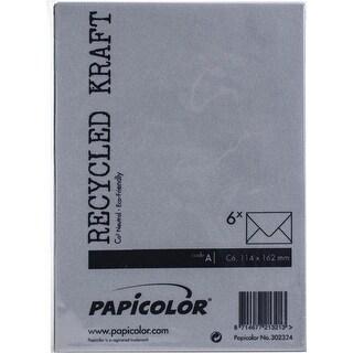 Kraft Black - Papicolor A6 Envelopes 6/Pkg