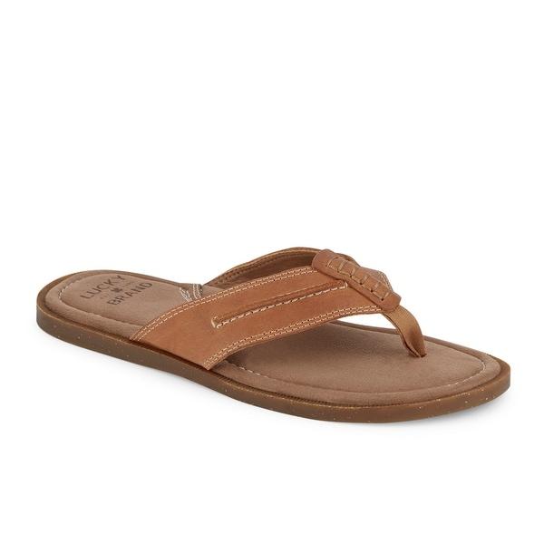 0f051ec60 Shop Lucky Brand Mens Barlow Leather Flip-Flop Sandal Shoe - Free ...