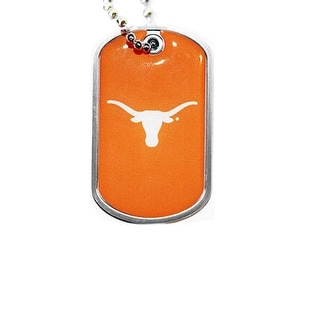 Texas Longhorns Dog Tag Domed Necklace Charm Chain NCAA
