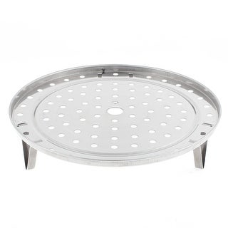 Unique Bargains Kitchen Stainless Steel Cooking Food Steamer Rack Plate 275mm Dia 2pcs