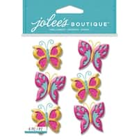 Jolee's Boutique Dimensional Stickers-Glitter Butterfly