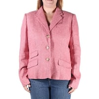 Womens Red Wear To Work Blazer Jacket  Size  14