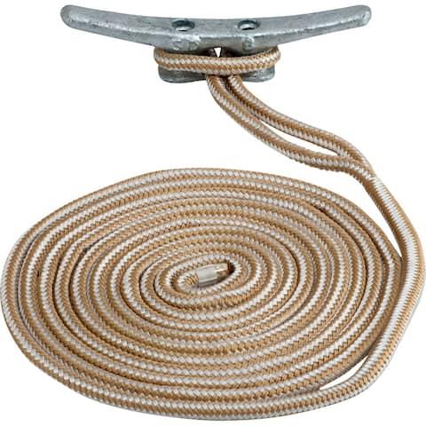 Sea-dog line sea dog double braided nylon dock line 5/8 x 35' 302116035g/w-1