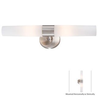 """Kovacs P5042-144 2 Light 20.25"""" Width Bathroom Bath Bar in Brushed Stainless Steel from the Saber Collection"""