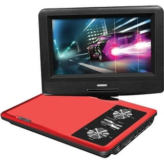 "Impecca 7"" Portable 270° Swivel DVD Player (Red)