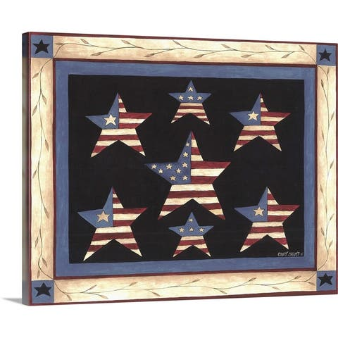 """Patriotic Stars"" Canvas Wall Art"