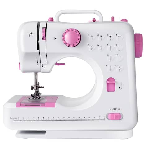 Costway Sewing Machine Free-Arm Crafting Mending Machine with 12