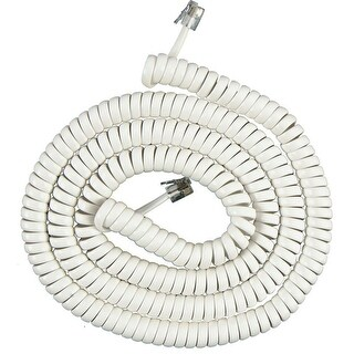 AT&T ATT-615-WHT 15 Foot Telephone Coil Cord (White) New