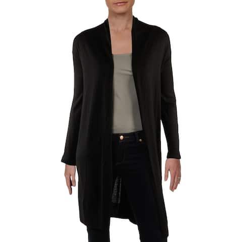 DKNY Womens Petites Cardigan Sweater Cashmere Knit - Black - PS