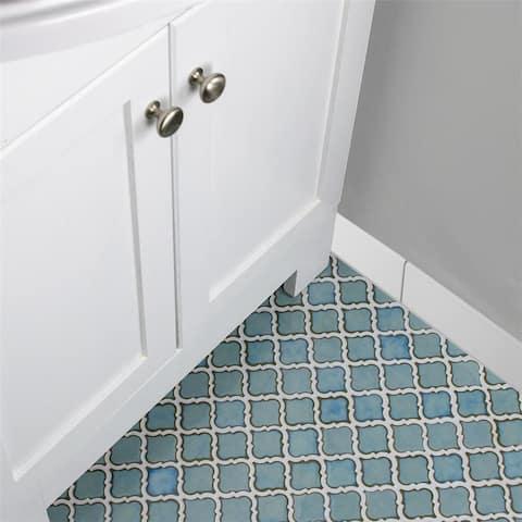 SomerTile 3.25x12.375-inch Zocalo Matte White Ceramic Base Trim Molding (25 tiles) - CASE