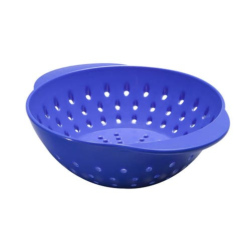 Tovolo 6-Inch Mini Melamine Quick Draining Berry Colander, Easy Grip Handles, Blue