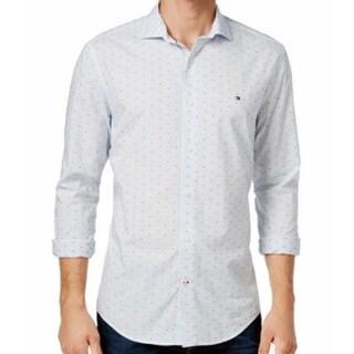 Tommy Hilfiger NEW White Mens Size Large L Button Down Cotton Shirt