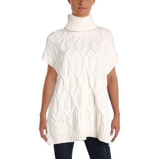 Theory Womens Boseley Turtleneck Sweater Cable Knit Ribbed - M/L