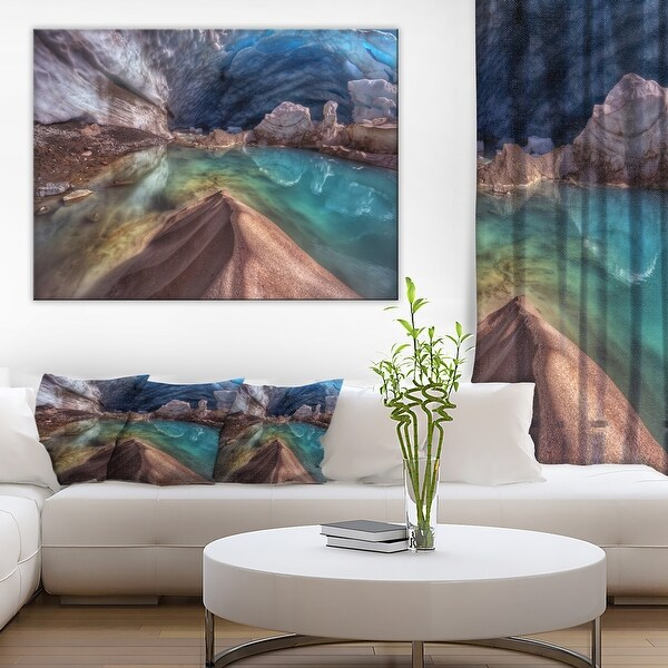 Designart 'Colorful Glacier Cave' Extra Large Landscape Art Canvas. Opens flyout.