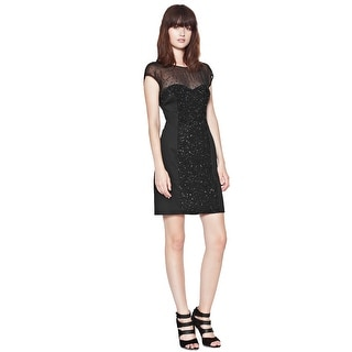 French Connection Moondust Sequinned Cap Sleeve Cocktail Evening Dress