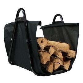 Log Indoor/Outdoor Firewood Log Holder with Carrier