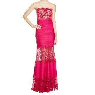 Tadashi Shoji NEW Pink Womens Size Large PL Petite Lace Mermaid Gown