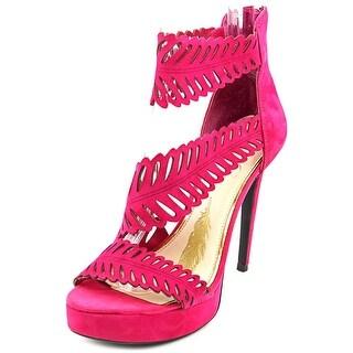 Jessica Simpson Azure Women Open Toe Suede Pink Platform Heel