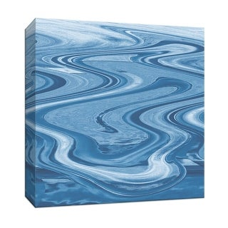 """PTM Images 9-146910  PTM Canvas Collection 12"""" x 12"""" - """"The Water is Wide I"""" Giclee Abstract Art Print on Canvas"""