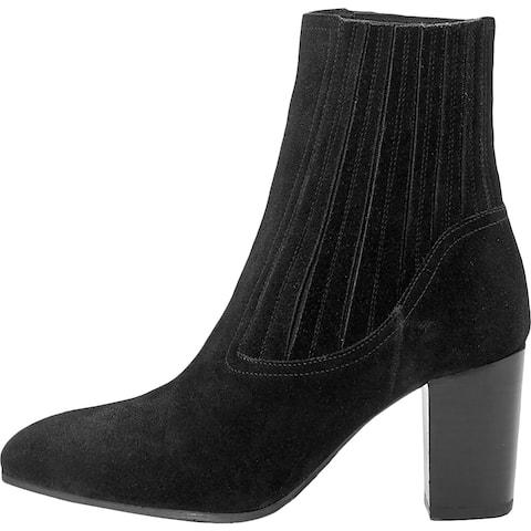 Aquatalia Womens Fayren Dress Boots Suede Pull On - Black Suede - 7 Medium (B,M)