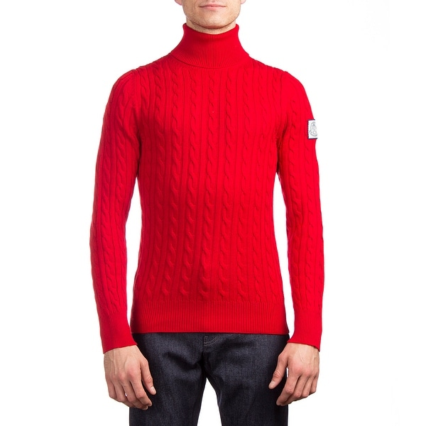 173ae29a7d91 Shop Moncler Men s Wool Turtleneck Sweater Red - Free Shipping Today ...