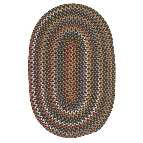 Colonial Mills Wayland Farmhouse Multicolor Braided Oval Rug