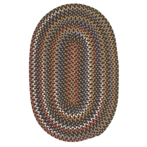 Colonial Mills Wayland Farmhouse Multicolor Braided Oval Rug