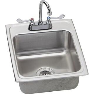 """Elkay LRAD172065 Gourmet 17"""" Single Basin Drop In Stainless Steel Bar Sink"""