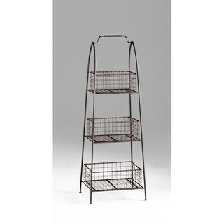 Cyan Design 4725 3 Shelf Essex Basket Stand