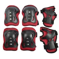 Cycling Inline Skateboard Set Wrist Guard Elbow Knee Pads Protector For Kids