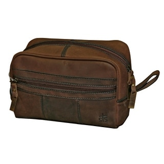 StS Ranchwear Western Bag Mens Leather Shave Kit Brown STS30550