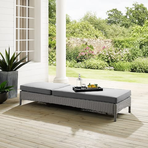 Cambridge Bay Chaise Lounge with Grey Cushions by Havenside Home - N/A