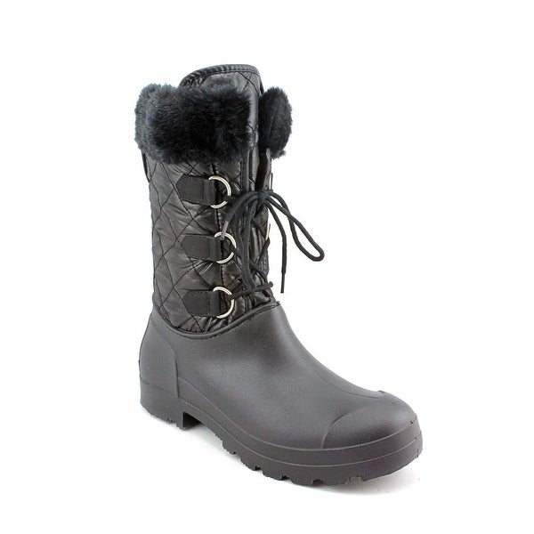 Dirty Laundry Pathways Women  Round Toe Canvas Black Winter Boot