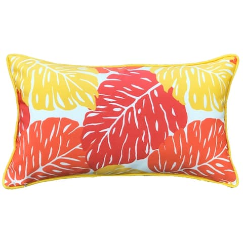 Jiti Orange Nature Tropical Sunbrella Outdoor Pillows - 12 x 20