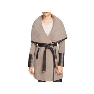 Via Spiga Womens Trench Coat Winter Wool