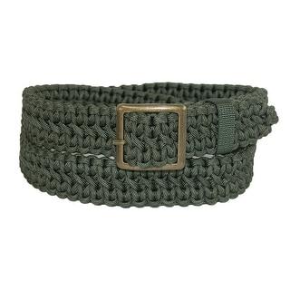 CTM® Men's Big & Tall Nylon Paracord Adjustable Braided Belt - Olive - One Size