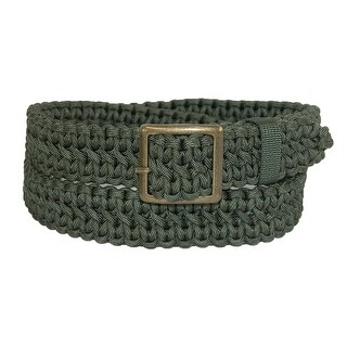 CTM® Men's Nylon Paracord Adjustable Braided Belt - One Size