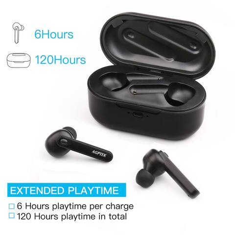 True Wireless Earbuds Bluetooth 5.0 Headphones with Charging Box