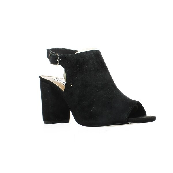 c6205d466bdb Shop Steve Madden Womens Deagen Black Suede Peep Toe Heels Size 9 ...
