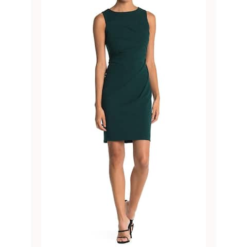 CALVIN KLEIN Green Sleeveless Above The Knee Body Con Dress Size 0P