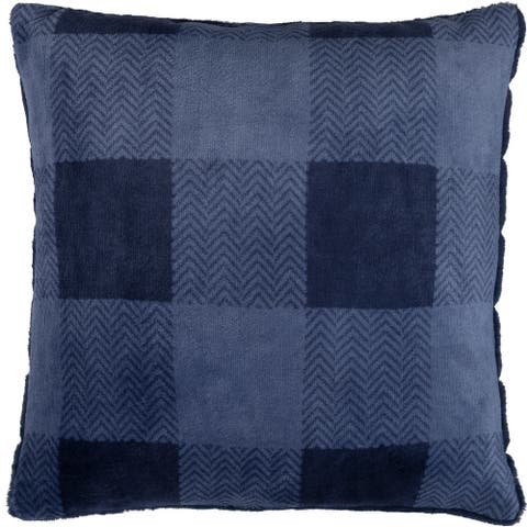 Cushion Reversible Navy Buffalo Plaid