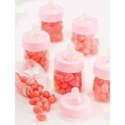 Pink Baby Bottles - Party Favors 12/Pkg