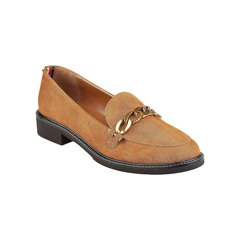 3a6089965 Tommy Hilfiger Womens Bosse Leather Closed Toe Loafers
