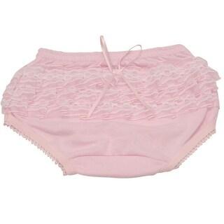 Piccolo Baby Girls Pink Lace Ruffle Detail Scallop Trim Underwear 12M