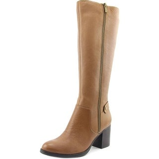 Franco Sarto Ashira Women Round Toe Leather Brown Knee High Boot
