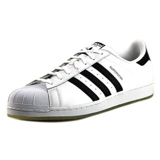 Adidas Superstar Men Round Toe Leather White Sneakers