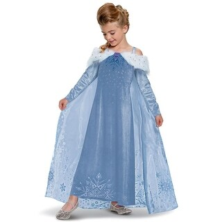 Disguise Elsa Frozen Adventure Dress Deluxe Toddler/Child Costume - Multi