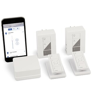 Lutron Caseta Wireless Smart Bridge Dimmer Kit with Pico Remotes for Plug-In Table and Floor Lamps