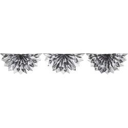 Pack of 6 Shiny Metallic Silver Prismatic Foil Celebration Bunting Swag Garlands 6.5'