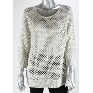 Inc International Concepts Plus Size Cloud Open-Knit Sweater 1X